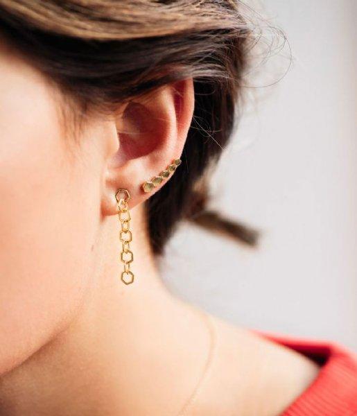 CLUSE Oorbellen Essentiele Open Hexagons Chain Earrings gold plated (CLJ51009)